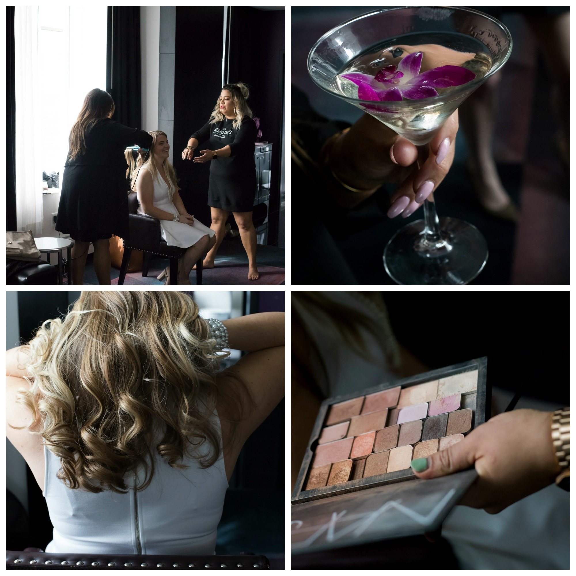 bachelorette party, nars makeup, glamsquad